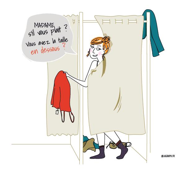 illustration cabine d essayage