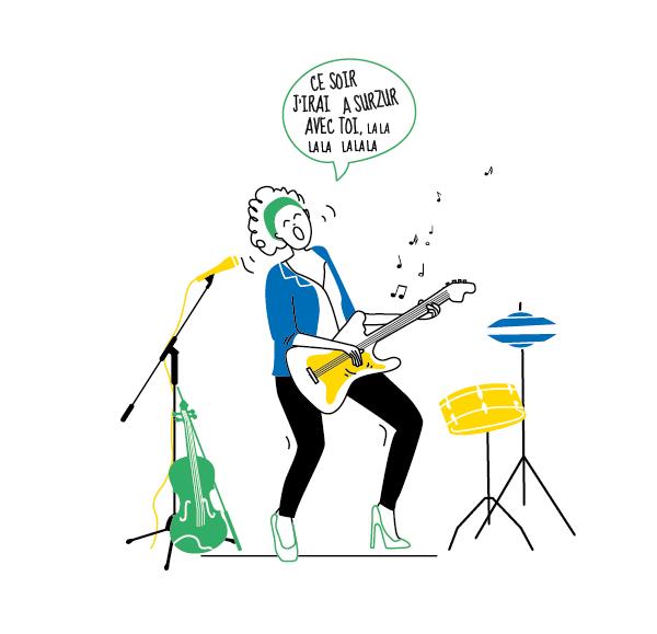 illustration musicienne