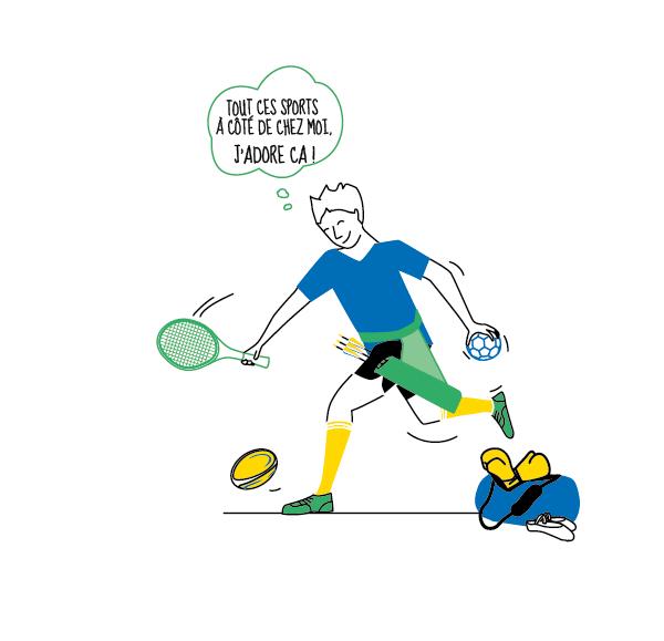 dessin sportif