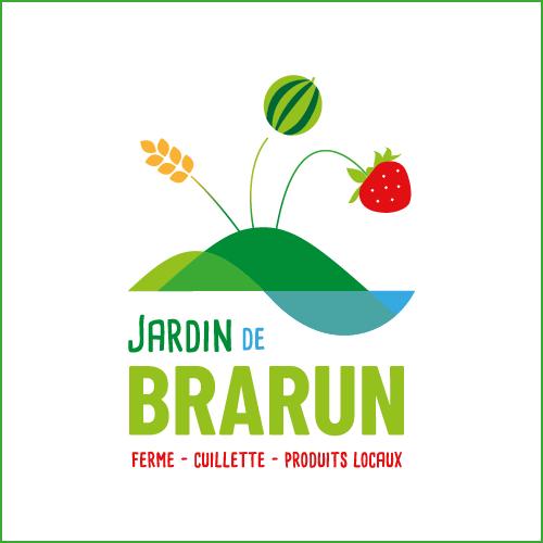 Logo Jardin de Brarun, ferme cuillette